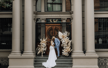 Elegant City Elopement Inspiration Featuring Bohemian Florals