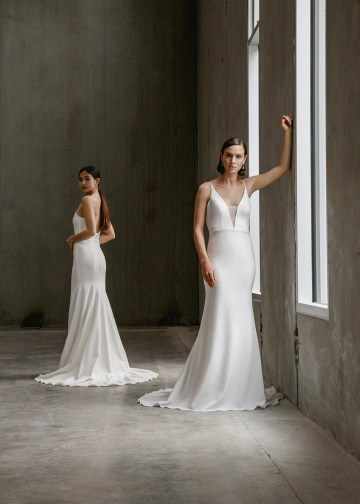 Modern Minimalist 2021 Wedding Dresses by Aesling Bride – Eunoia and Gossamer Dress