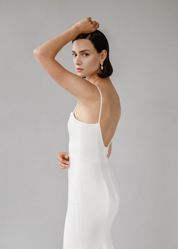 Modern Minimalist 2021 Wedding Dresses by Aesling Bride – Gossamer Dress 1
