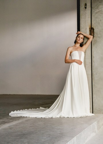 Modern Minimalist 2021 Wedding Dresses by Aesling Bride – Sonder Dress 1