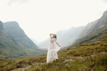 Stunning Scotland Highlands Elopement Inspiration – Alia PAIENDA – E and W Couture 4