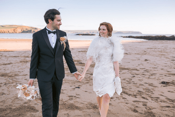 Modern Art Deco Wedding Inspiration at Burgh Island Hotel in Devon – Jennifer Jane Photography 10