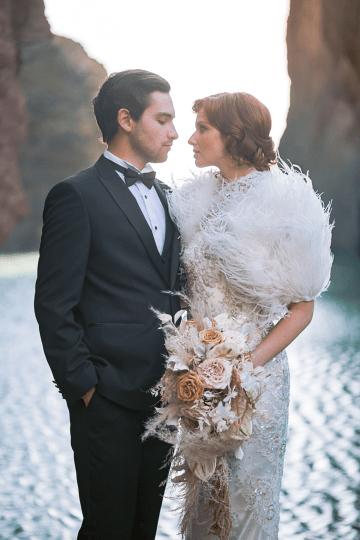 Modern Art Deco Wedding Inspiration at Burgh Island Hotel in Devon – Jennifer Jane Photography 34