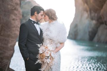 Modern Art Deco Wedding Inspiration at Burgh Island Hotel in Devon – Jennifer Jane Photography 5