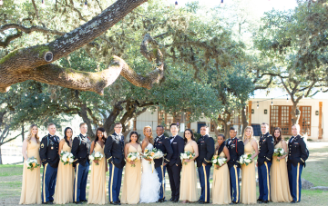 Childhood Friends Win A Glamorous Texas Wedding With Military Style