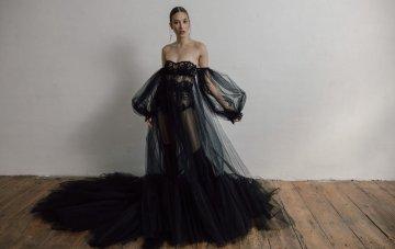 30 Black Wedding Dresses For The Alternative Bride