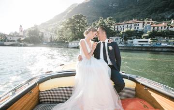 Hydrangea Blue Lake Como Micro Wedding