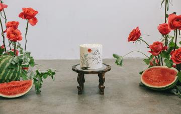 Modern Korean Wedding Inspiration With Watermelon Decor