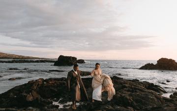 Korean Culture Meets The Hawaiian Islands For This Stunning Elopement