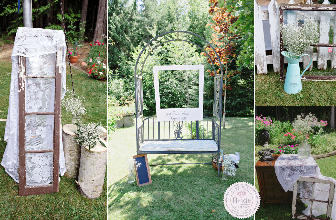 Real Wedding: Emilie & Jan Rustic, Backyard
