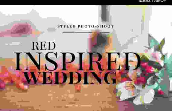 bridediaries.com | Red Inspired Wedding Styled Photo-Shoot