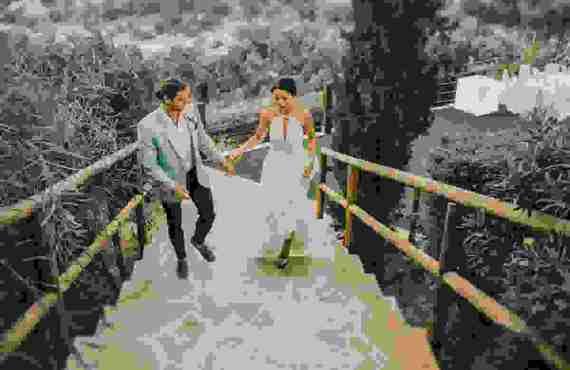 Ρομαντικός Elegant Γάμος στον Πρωταρά