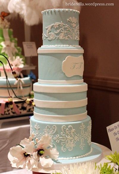 Purple Green Blue Wedding Cakes Wedding Dress Bohemian