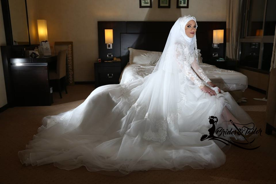 This Beautiful Hijab Wedding Dress Was Custom Made For Our