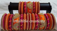 "With Silk thread Bangles, ear rings and necklaces ruling Bridal jewellery market, here at Brides essentials, we are introducing ""Infallible Creationz"" as Pioneer in Silk thread jewellery."
