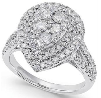 pear shaped ring, diamond peer ring