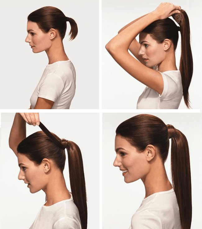 ponytail, wedding hairstyle