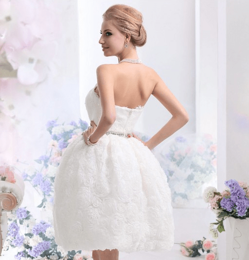 Season's best wedding trend: Cocomelody Short wedding dress