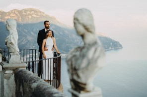 Robert and Penelopes Perfect Elopement In Villa Cimbrone Ravello