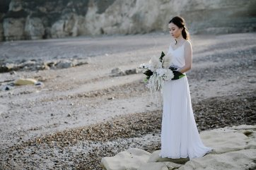 A Contemporary Coastal Bridal Shoot at Marsden Rock (c) Leanne Elizabeth Photography (20)