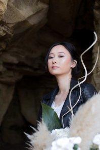 A Contemporary Coastal Bridal Shoot at Marsden Rock (c) Leanne Elizabeth Photography (5)