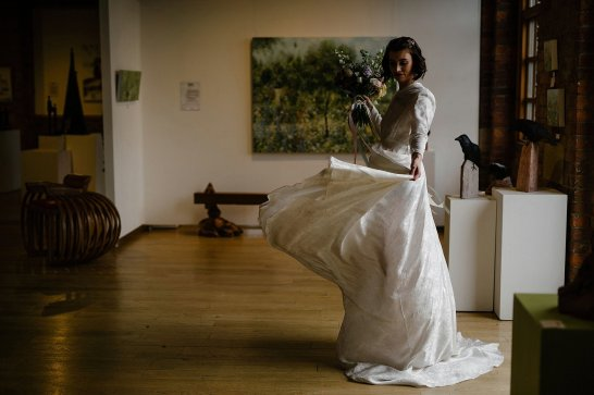 An Urban Styled Bridal Shoot at The Biscuit Factory (c) Dan McCourt (31)