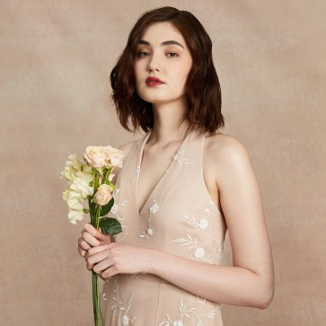 Olga Embroidery Daisy Champagne_0581