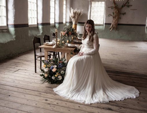 An eco-friendly wedding shoot at Gibson Mill Charlotte Nelson Photography & Louise Pollitt Photography(1)