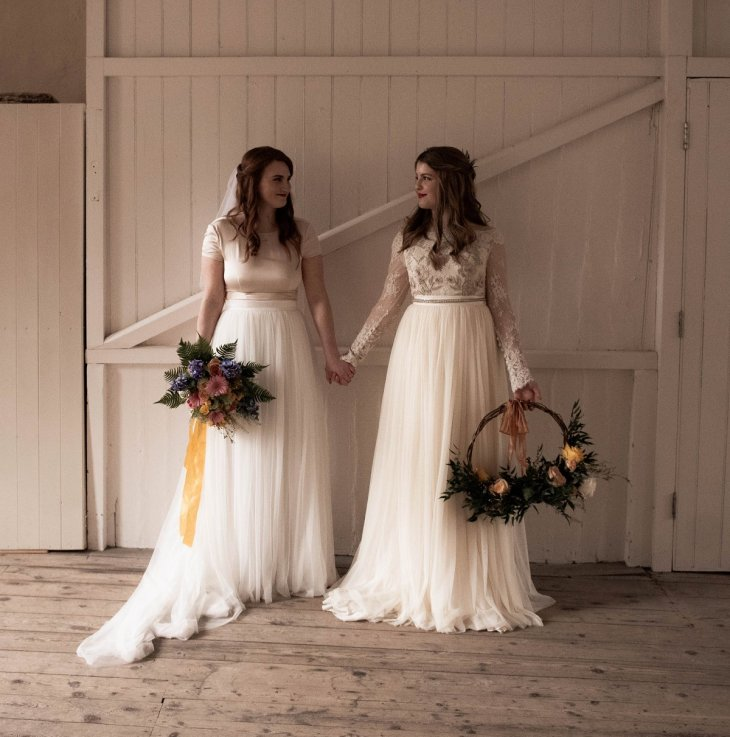 An eco-friendly wedding shoot at Gibson Mill Charlotte Nelson Photography & Louise Pollitt Photography(14)
