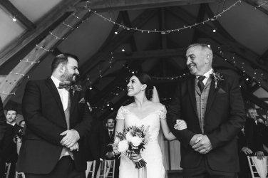 A Pronovias Wedding Dress for a Rustic Barn Wedding at Sandburn Hall (c) Hayley Baxter Photography (42)