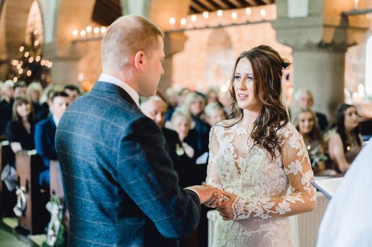 Pronovias Wedding Dress for a Winter Wedding at Mitton Hall (c) Kieran Bellis Photography for Brides Up North (24)