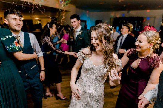 Pronovias Wedding Dress for a Winter Wedding at Mitton Hall (c) Kieran Bellis Photography for Brides Up North (76)