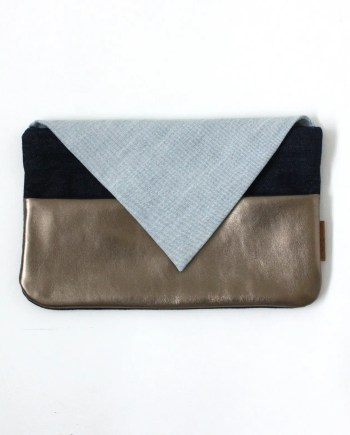Clutch Denim Bridge&Tunnel