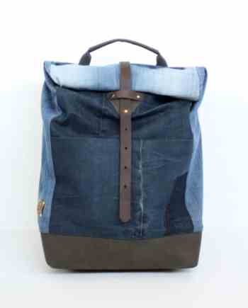 denin rucksack backpack handmade