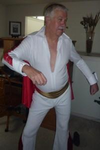 The Bridge Burglar (Pieter Vanbennekom) goes rock 'n' roll in his Elvis costume