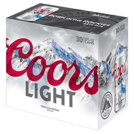 coors light 30 pack 12oz cans