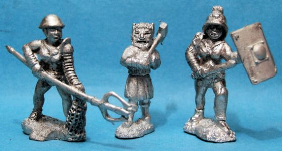 Female Samnite, Female Retiarius, Charon