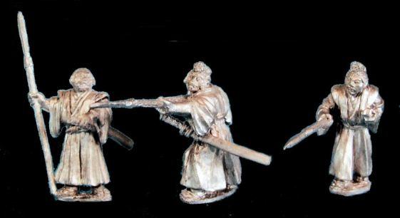 Unarmoured Samurai with Yari