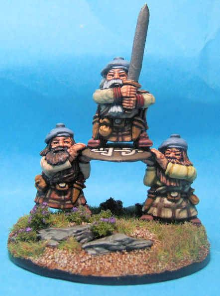 Dwarf Hero and Shieldbearers