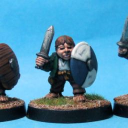 Halfling Militia with Swords