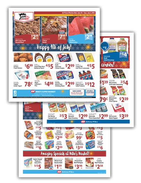 03 Mike's Super Market Fourth of July 8-Page Ad