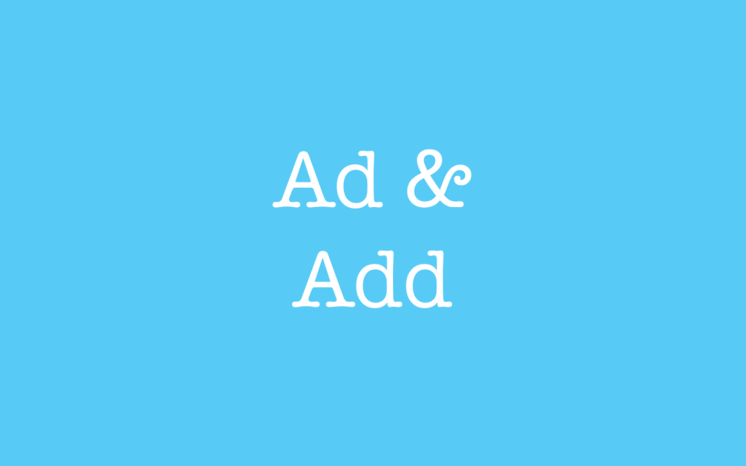 What is the difference between ad and add?