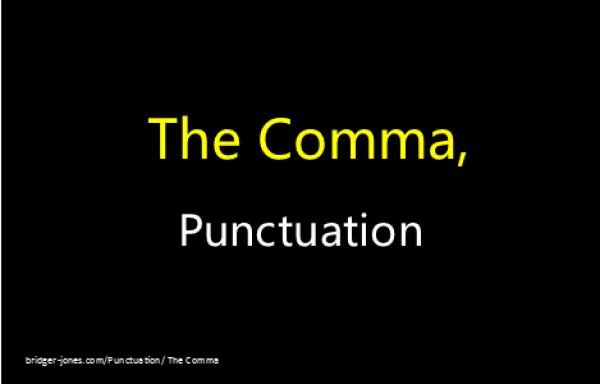 How to use the comma with examples.