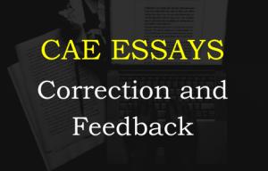 CAE essay correction and feedback
