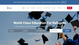Refugees apply for free online degrees