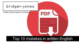 Free download, An explanation of the most common mistakes in written English