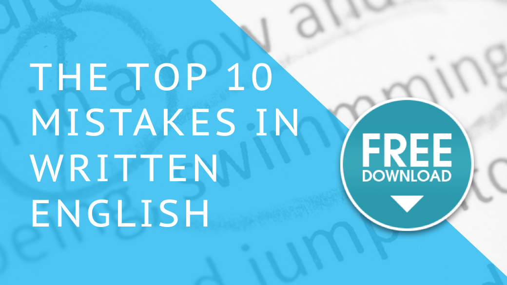 Top 10 mistakes in written English – free download