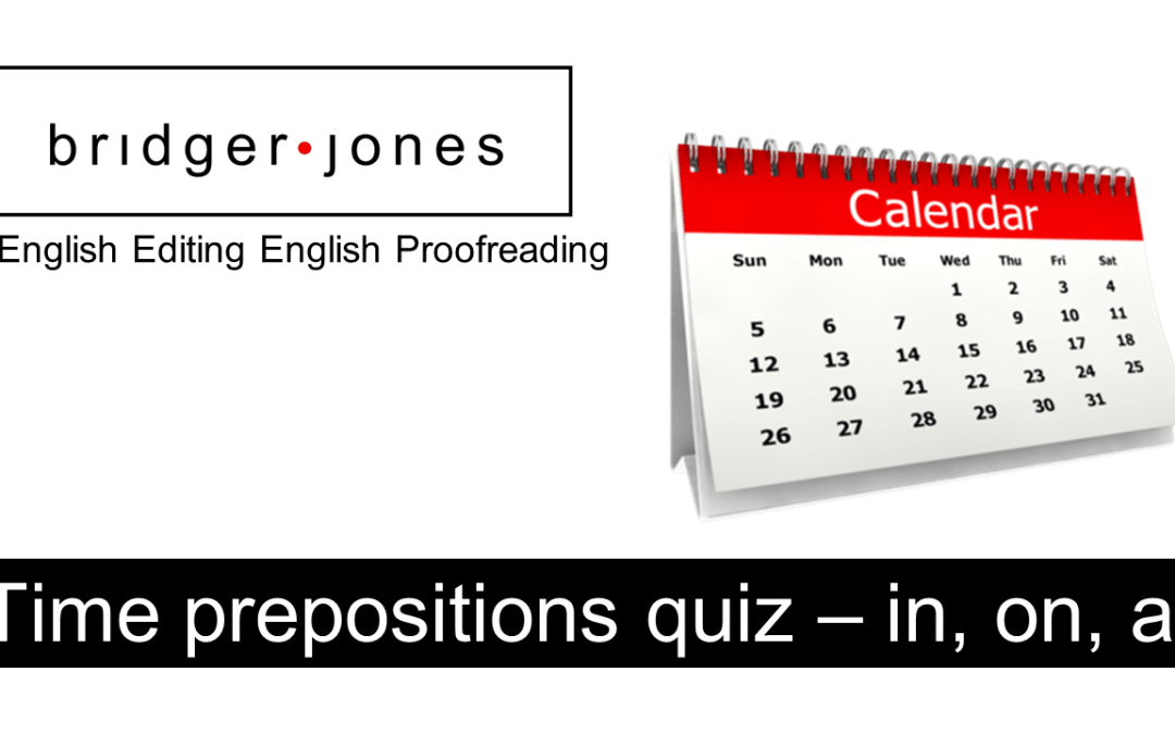 Time prepositions quiz – in, on, at