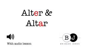 Alter vs Altar