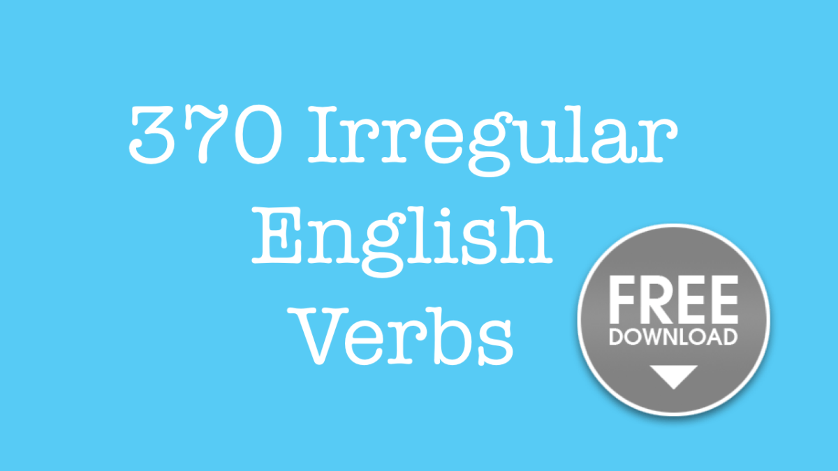 Free pdf download English irregular verbs